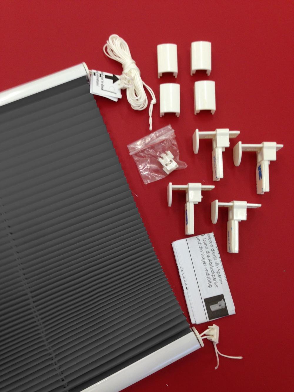 plissee f r fenster t r faltrollo klemmfix ohne bohren. Black Bedroom Furniture Sets. Home Design Ideas