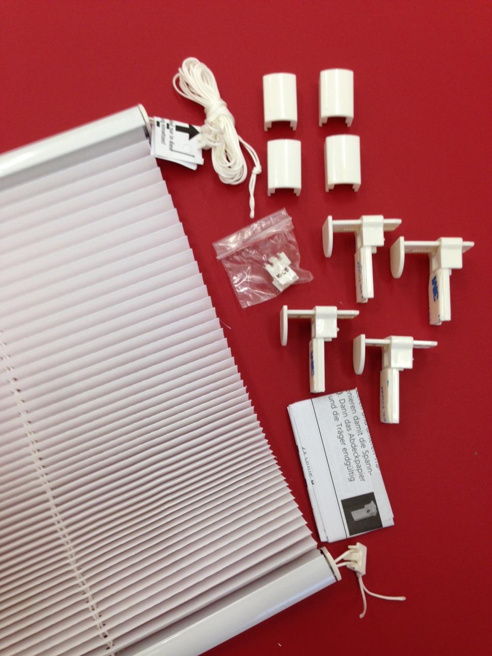 klemmfix plissee mit klemmtr ger rollo verspannt f r fenster t r wei creme grau ebay. Black Bedroom Furniture Sets. Home Design Ideas